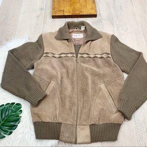 Mister Man Vintage Leather Suede Jacket Coat Med